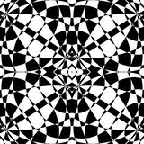 Mirrored symmetrical pattern. Geometric monochrome background. T. Essellating, mosaic texture with high contrast. - Royalty free vector illustration Stock Images
