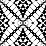 Mirrored symmetrical pattern. Geometric monochrome background. T. Essellating, mosaic texture with high contrast. - Royalty free vector illustration Royalty Free Stock Images
