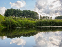 Mirrored view in dutch canal Stock Images