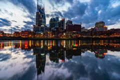 Nashville City Skyline stock photos