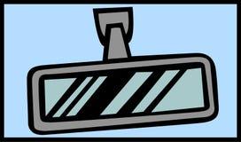 汽车mirrorin后方向量视图挡风玻璃 图库摄影