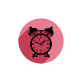 Mirroring alarm-clock 3d vector symbol, best for use in graphic Royalty Free Stock Photography