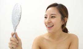 Mirroring beauty Stock Image