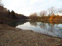 Mirroring creek water Royalty Free Stock Photo
