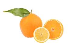 Mirroring an orange Royalty Free Stock Photos
