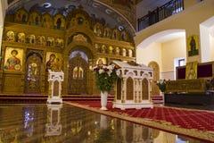 Mirroring orthodox church altar stock photography