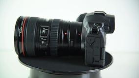 Mirrorless camera Canon EOS R stock video footage