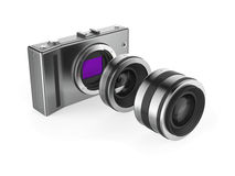Mirrorless camera system Royalty Free Stock Images
