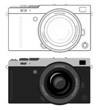 Mirrorless compact camera Stock Photos