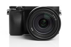 Mirrorless digital camera Royalty Free Stock Photo