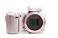 Mirrorless DSLR body without lens Royalty Free Stock Photos