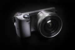 Mirrorless DSLR  Camera Royalty Free Stock Photography
