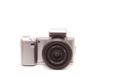 Mirrorless DSLR with 30mm lens Royalty Free Stock Image