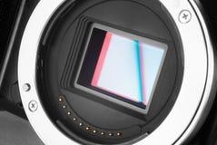 Mirrorless kamery czujnik Fotografia Royalty Free