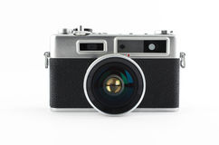 Mirrorless retro camera. Old camera royalty free stock images