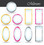 Mirrors collection. Royalty Free Stock Image