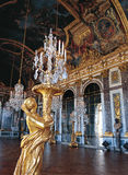 Mirrors hall of Versailles Palace France. Great Hall, now called Hall of Mirrors one of the most famous feature from Versailles Chateau royalty free stock images