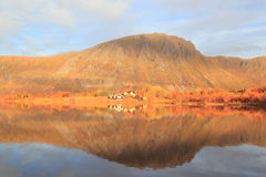 Mirrors of  a Lofotens  fjord Royalty Free Stock Photos