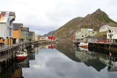 Mirrors of  Nyksund Royalty Free Stock Photography