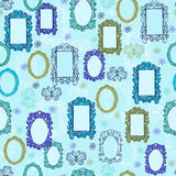 Mirrors and Picture Frames Seamless Repeat Pattern. Conversational Mirrors and Picture Frames Seamless Repeat Pattern Vector Illustration eps stock illustration