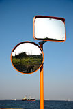 Mirrors for road safety in Japan Royalty Free Stock Photography