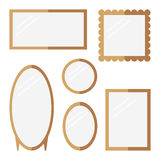 mirrors set on white background. Royalty Free Stock Images
