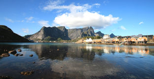 Mirrors of west Lofoten Stock Photography