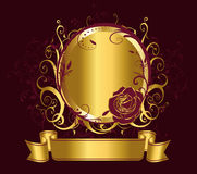 Mirrow with rose Royalty Free Stock Photos
