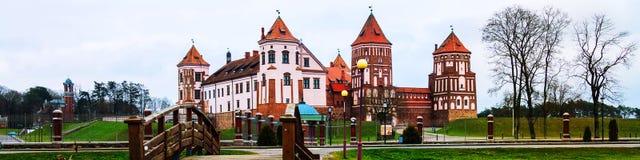 Mirsky位于一个小镇的城堡复合体Mir,白俄罗斯 图库摄影