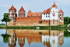 Mirsky Castle Complex. UNESCO World Heritage Stock Images