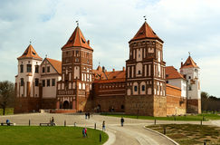 The Mirsky Castle Complex is the famous landmark of Belarus Stock Images