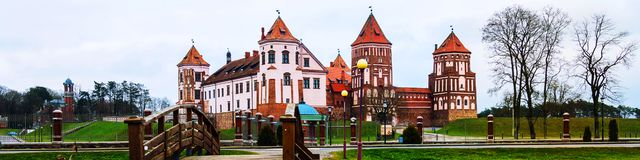 Mirsky Castle Complex located in a small town Mir, Belarus stock photography