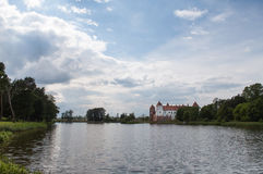 The Mirsky Castle Complex is a UNESCO World Heritage site in Bel Royalty Free Stock Images