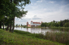 The Mirsky Castle Complex is a UNESCO World Heritage site in Bel Royalty Free Stock Photo