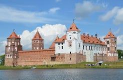 Mirsky kasztel w Białoruś w lecie Fotografia Royalty Free
