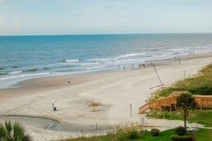 Mirt plaży krajobraz obrazy stock