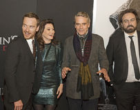 Mirth on the Red Carpet with Michael Fassbender & Jeremy Irons Stock Photos
