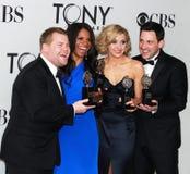 Mirthfull Tony-Winning Quartet Royalty Free Stock Image