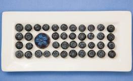 Mirtilli e cioccolato fotografie stock libere da diritti