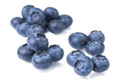 Mirtilli isolati su priorità bassa bianca Bacche dell'antiossidante di Superfood immagine stock