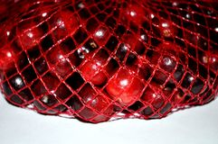 Mirtilli rossi in una borsa immagine stock