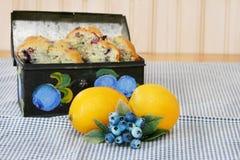 Mirtillo & limone Fotografia Stock