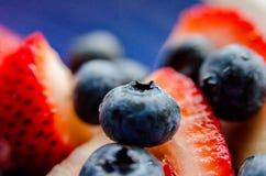 Mirtilos macro azuis foto de stock royalty free