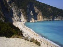 Mirtos海滩 免版税库存照片