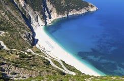 Mirtos beach at Kefalonia, Greece Royalty Free Stock Photography
