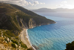 Mirtos beach at Kefalonia in Greece Stock Image