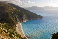 Mirtos beach at Kefalonia in Greece stock image