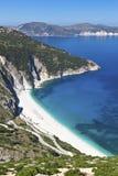 Mirtos beach at Kefalonia island Royalty Free Stock Photos