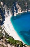 Mirtos beach at Kefalonia island Royalty Free Stock Image