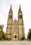 Miru Church. Church at the Namesti Miru Square Vinohrady Prague Czech Republic in late October Royalty Free Stock Photos